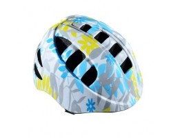 Casque enfant Optimiz FLOWER BLANC/BLEU (48-52)