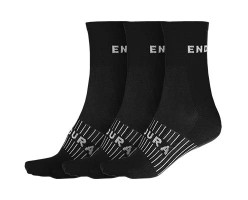 Endura Chaussettes de course Coolmax® (lot de 3 paires)